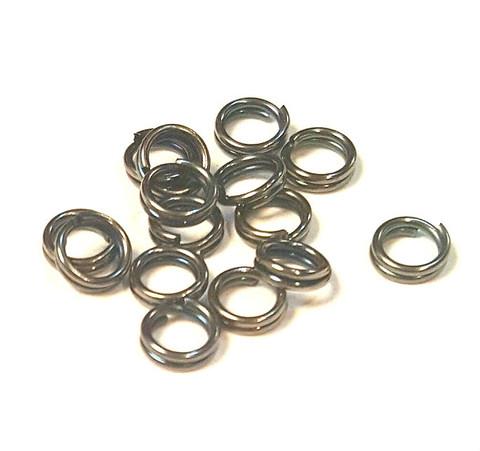 Кольцо двойное 5 мм темный металл цена за 10 шт