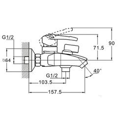 Смеситель для ванной Zegor SWF3-A113