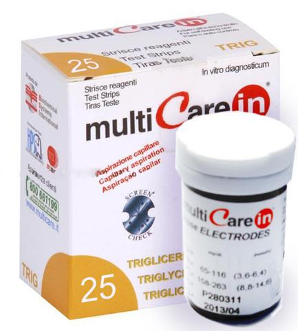 Тест-полоски Мультикэа ин (Multicare-in) Триглицериды №25