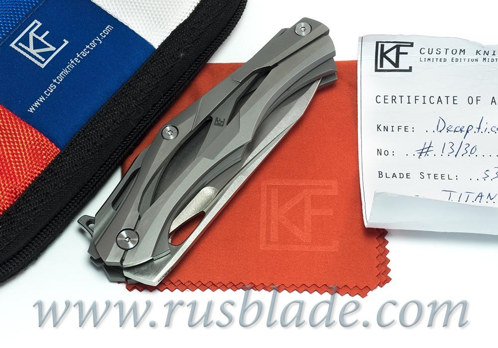 CKF Decepticon-1 Knife (Alexey Konygin design, s35vn, bearings, titanium)