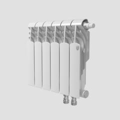 Биметаллический радиатор с нижним правым подключением Vittoria 350 VD - 6 секций