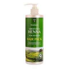 Deoproce Greentea Henna Pure Refresh Hair - Маска для волос с зеленым чаем и хной