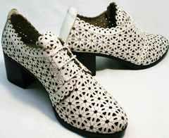 Красивые туфли босоножки с закрытой пяткой и носком женские Arella 426-33 White.