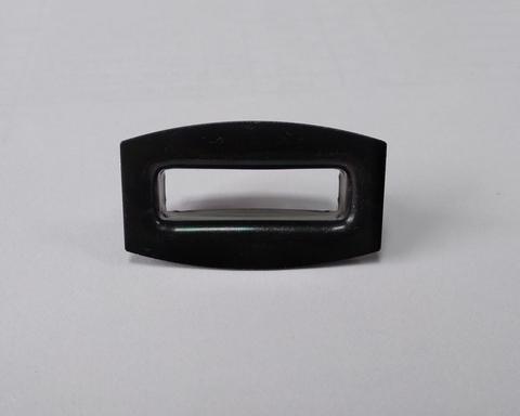 Люверс прямоугольный 27х8 черный