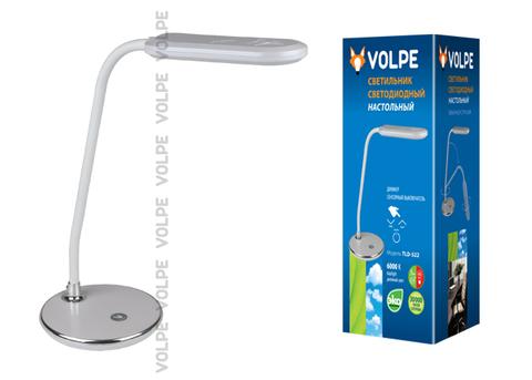 Светодиодный светильник настольный TLD-522 ТМ VOLPE 360Lm/DW/Dimmer/Цвет - серебристый