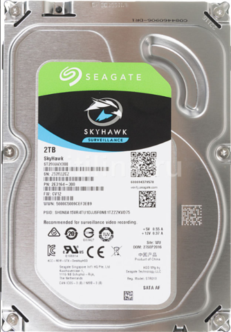 Жесткий диск Seagate 5900 SkyHawk [ST2000VX008] 2 ТБ