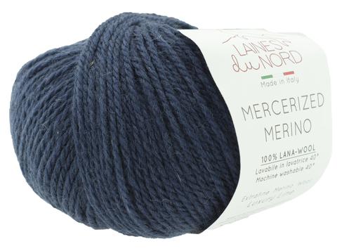 Пряжа Mercerized Merino (Мерсеризед Мерино). Темно-синий. Артикул: 15