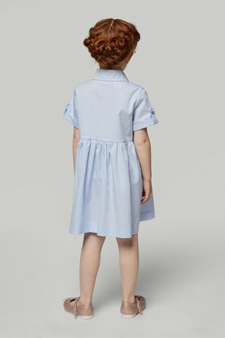 Платье в голубую клетку