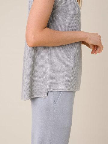 Женская футболка серебряного цвета из вискозы - фото 3