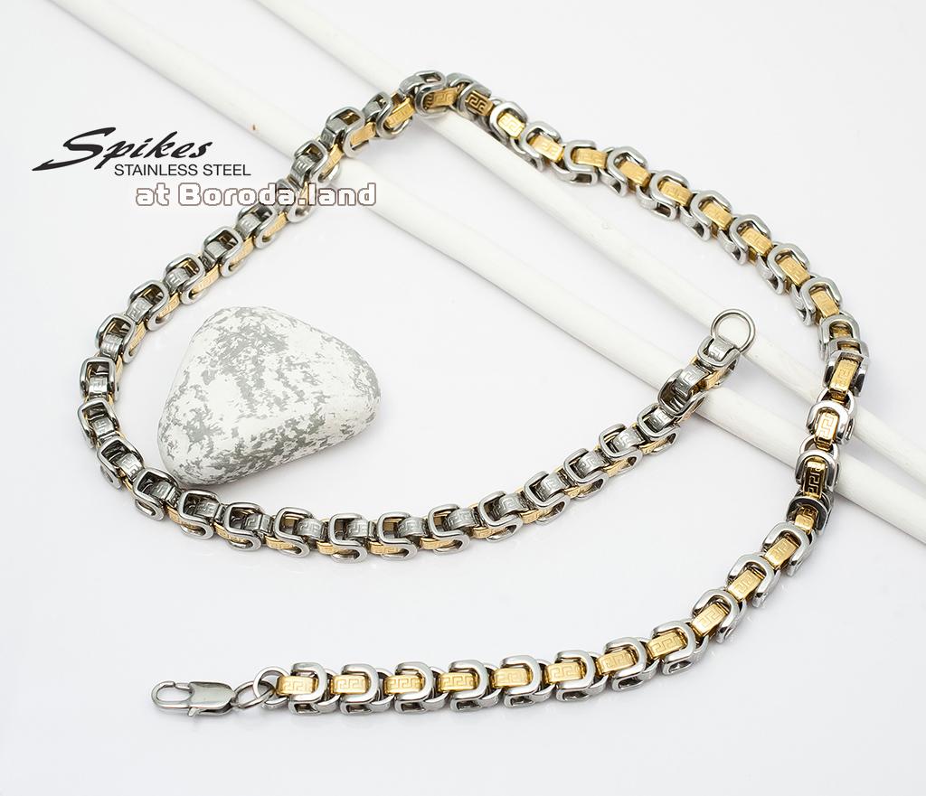 SSNM-1365 Крупная мужская цепь «Spikes» из ювелирной стали (62 см)