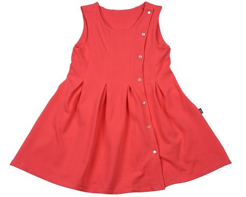 Коралловое платье на пуговках Mini-Maxi (арт.UD3286(1))