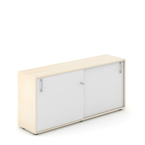 Шкаф со слайдинг дверями низкий