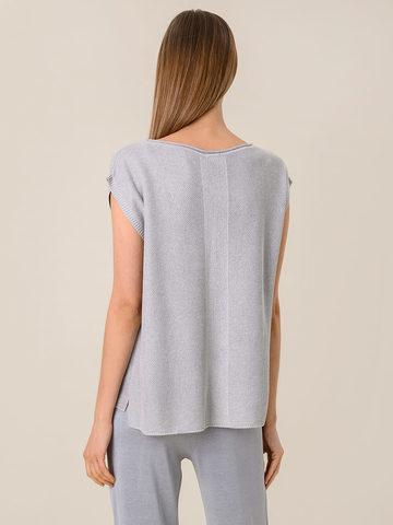 Женская футболка серебряного цвета из вискозы - фото 2