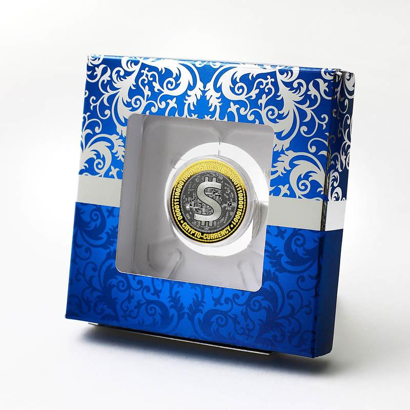 Сатоши. Гравированная монета 10 рублей в подарочной коробке.