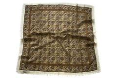 Шерстяной женский коричневый платок (0026 PLATOK 8)
