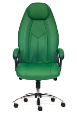 Кресло компьютерное Босс люкс (Boss lux) хром — зеленый/зеленый перфорированный (36-001/36-001/06)