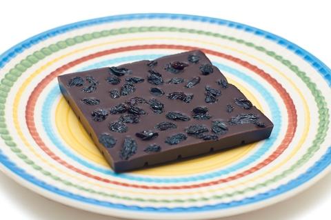 Шоколад не меду с изюмом, задняя сторона