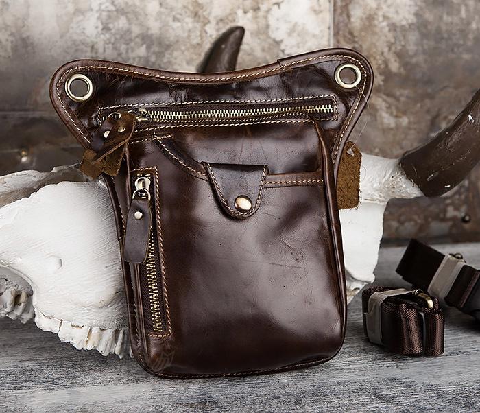 BAG436-2 Крутая набедренная сумка из натуральной кожи