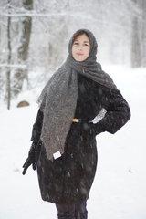 Оренбургский пуховый платок 72
