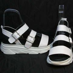 Спортивные сандалии женские Evromoda 3078-107 Sport White