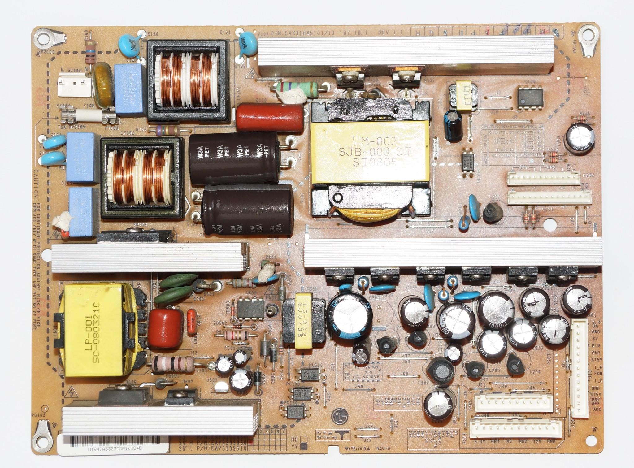 EAX31845101/13 EAY3303030 блок питания телевизора LG