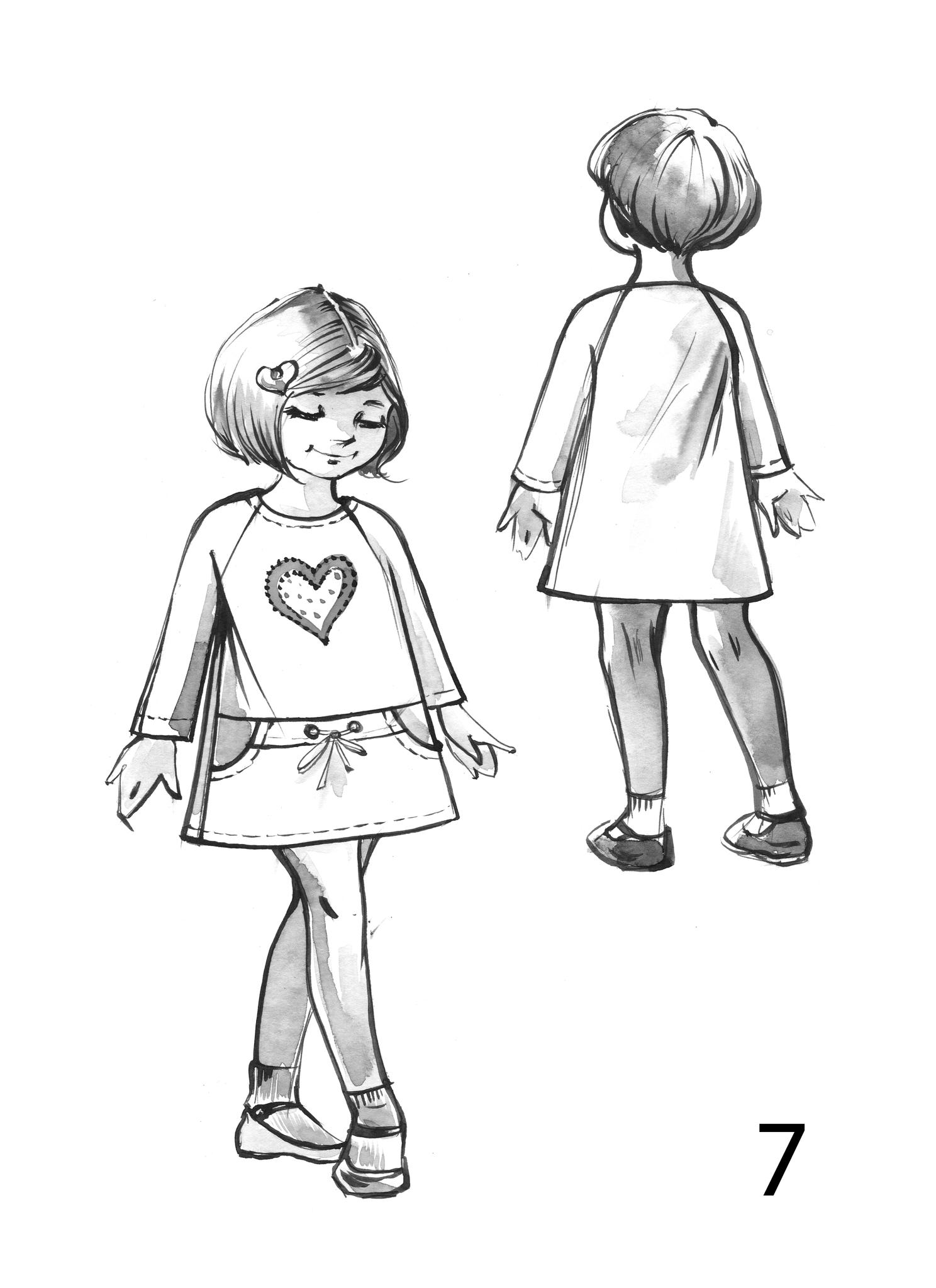 Платье для девочки,рукав реглан