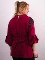 Милана. Стильная блуза больших размеров. Бордо.