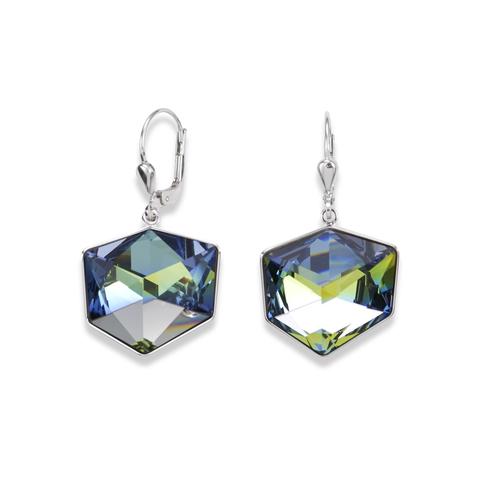 Серьги Coeur de Lion 4889/20-0705 цвет зелёный, голубой, прозрачный