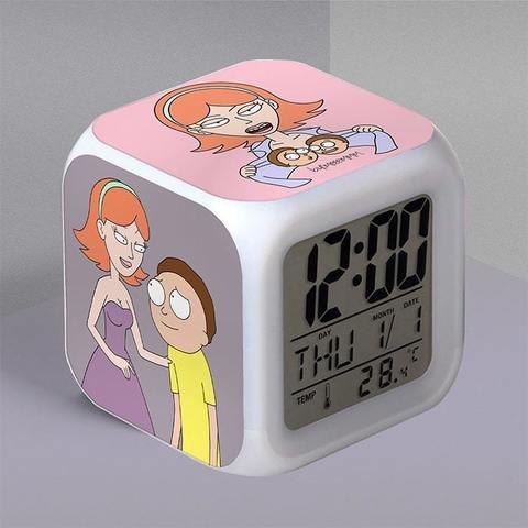 Часы-будильник с Джессикой и Морти