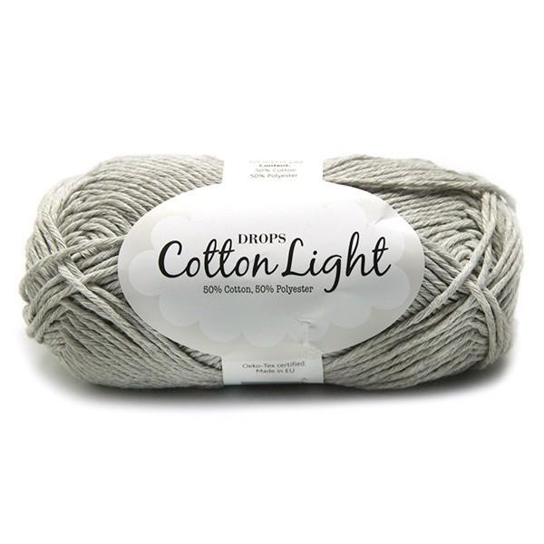 Пряжа Drops Cotton Light 31 жемчужный серый