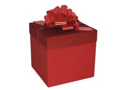 Коробка для подарков «Красная»  22,5 см*22,5 см*22,5 см