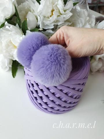 Помпоны, Кролик 5-6 см, цвет Сирень, 2 шт