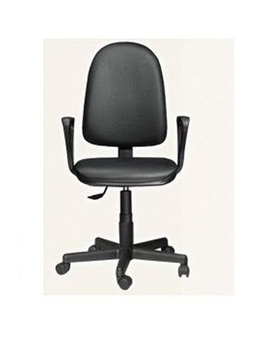 Кресло ПРЕМЬЕР 1 газлифт кожзам черный