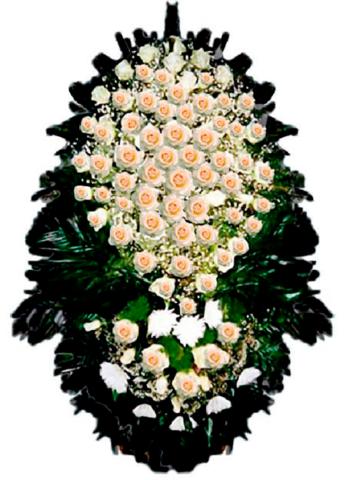 Траурный венок из живых цветов ВЖ 08