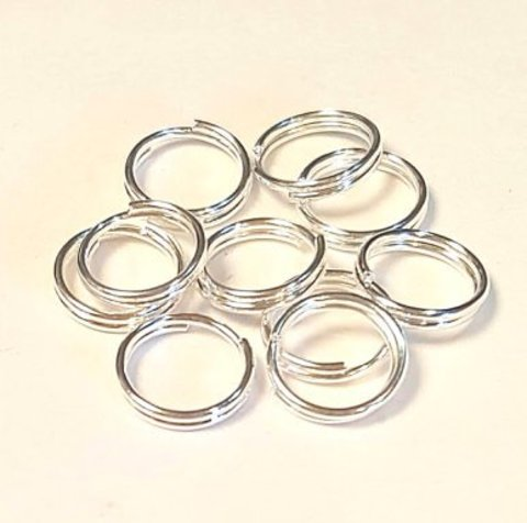 Кольцо двойное 6 мм серебро цена за 25 шт