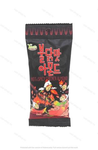 Миндаль обжаренный со вкусом острой курицы, Корея, 30 гр.