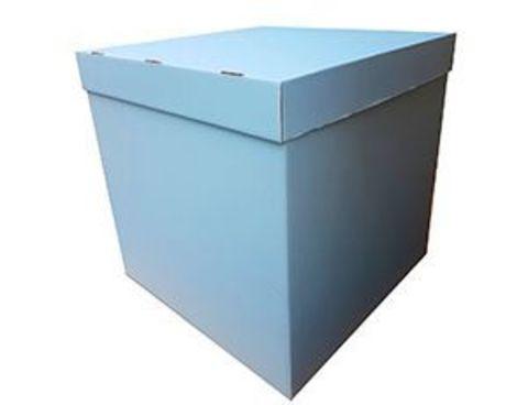 Коробка для шаров с персональным оформлением голубая