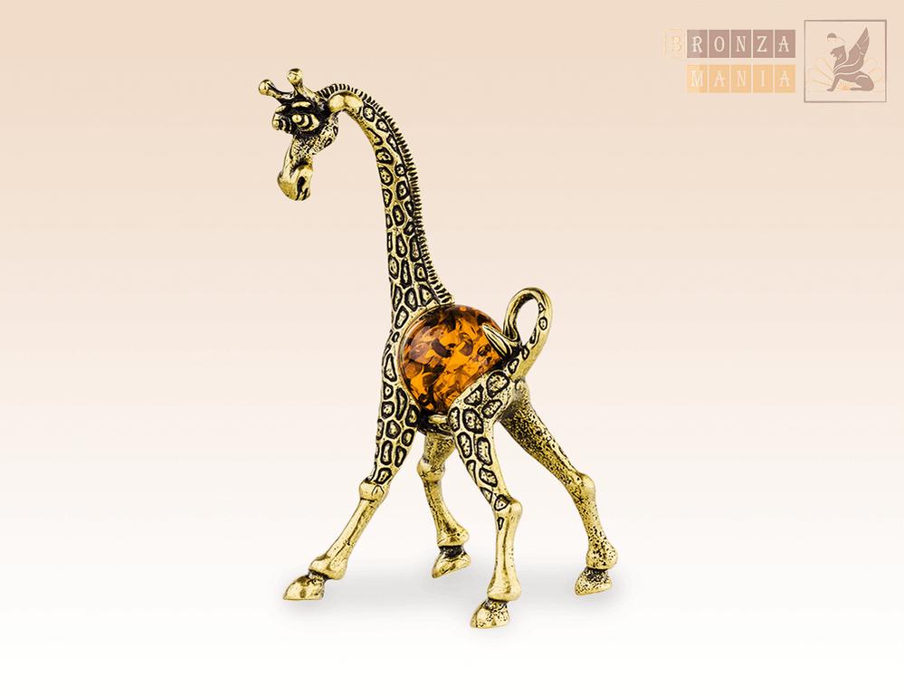 фигурка Жираф Мама с янтарем