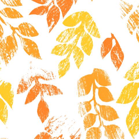 Осенние листья потертые