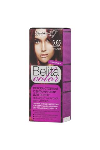 Белита-М Belita Color Стойкая краска с витаминами для волос тон №6.65 Гранатово-красный