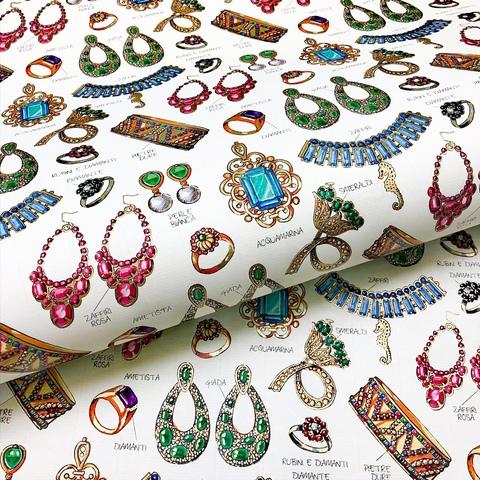 Бумага декоративная подарочная Ювелирные украшения