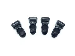 Застежки для чулок черные 10 мм (4 шт) пластик