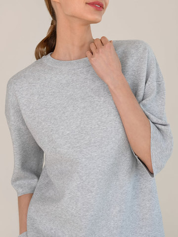 Женский джемпер цвета серый меланж из вискозы - фото 4