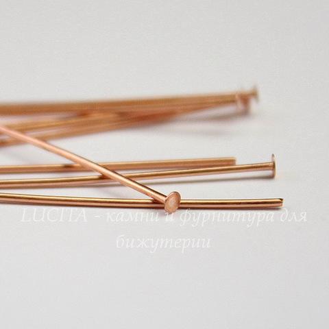 Пины-гвоздики TierraCast 51х0,7 мм (цвет-медь), 10 штук