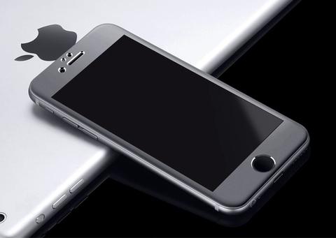 Защитное стекло на весь экран Style c алюминиевой рамкой для iPhone 7 Plus (Черное)