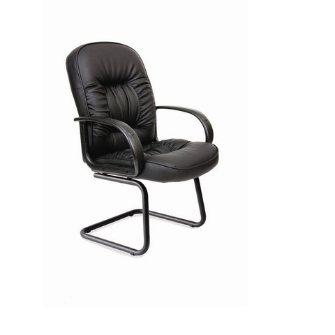 Конференц-кресло Chairman 416 V на полозьях черное (экокожа/пластик/металл черный)
