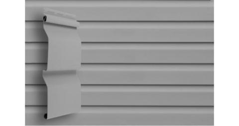Виниловый сайдинг Гранд Лайн корабельная доска слим 3.0 D 4 серый