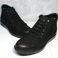 Ботинки на зиму мужские Luciano Bellini 71783 Black.