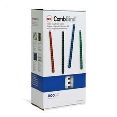 Пружины для переплета пластиковые GBC 22 мм белые (100 штук в упаковке)