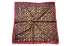Шерстяной женский золотистый платок (0028 PLATOK 8)